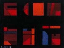 Sin título 2002. Mixta sobre papel 26 x 21 cm