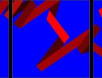 Sin título 2013. Acrílico sobre lienzo 300 x 100 cm
