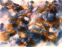 Sin título - 1987 - Acrílico Sobre Cartón - 98,5 x 69