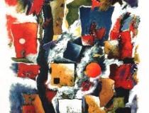 Improvisación en junio - 1988 Acrílico sobre lienzo - 130 x 97
