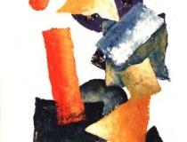 Sin título - 1988 - Acrílico Sobre Cartón - 98,5 x 69