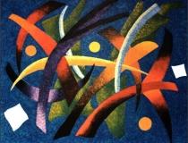 Vencejos - 1989 - Acrílico sobre lienzo - 162 x 30