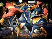 Gruta con Peces - 1989 - Acrílico sobre lienzo - 130 x 97