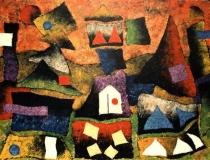 Aldea de Gnomos - 1989 - Acrílico sobre lienzo - 130 x 97