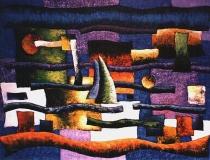 Puerto - 1989 - Acrílico sobre lienzo - 130 x 97