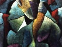 Hombre Respetable - 1990 - Acrílico sobre lienzo - 73 x 60