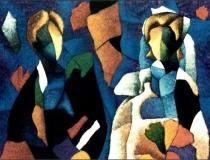 Recién Casados - 1990 - Acrílico sobre lienzo - 130 x 97