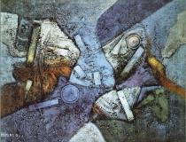Sin título - 1990 - Mixta sobre lienzo - 73 x 60