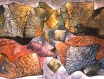Sin título - 1991 - Mixta sobre lienzo - 195 x 130