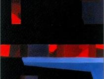 Sala: Improvisaciones y abstracciones Sin título 2002. Mixta sobre papel 26 x 21 cm