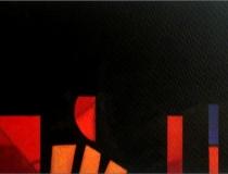 Sala: Improvisaciones y abstracciones Sin título 2002. Mixta sobre papel 30,5 x 19,5 cm