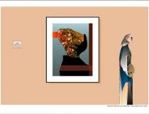 Sala: Derechos humanos y libertades Fusilado por sus ideas 1996. Obra gráfica original Estampa digital sobre papel de grabado 48 x 31 cm