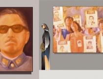Sala: Derechos humanos y libertades Desaparecidos.¿Dónde están? 2001. Mixta sobre lienzo 46 x 27 cm