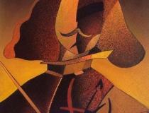 Sala: Pintores-Pintura Homenaje a Velázquez nº7 2002. Mixta sobre papel 39 x 30 cm