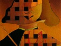 Sala: Pintores-Pintura Homenaje a Velázquez nº4 2001. Mixta sobre papel 39 x 30 cm