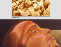 Tienda del Museo: Prensa Palestino muerto 2001. Mixta sobre lienzo 47 x 33 cm