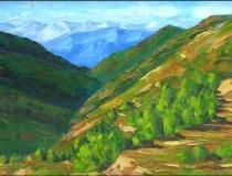 Sierra - 1986 - Óleo sobre lienzo