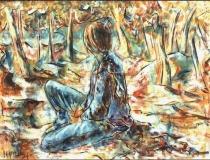 Figura de Espaldas - 1986 - Óleo sobre lienzo