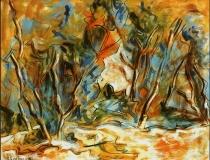 Troncos - 1986 - Óleo sobre lienzo