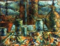 Objetos y Ventana - 1986 - Óleo sobre lienzo