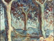 Tres árboles - 1986 - Óleo sobre lienzo
