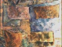 Ropa Tendida en Patio - 1986 - Óleo sobre lienzo