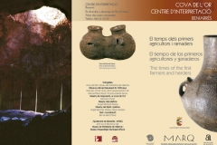Tríptico - Centro de Interpretación Arqueológica - Beniarrés (Alicante)