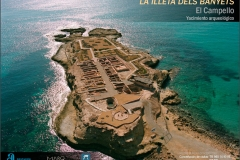 Cartel - La illeta dels banyets - Yacimiento Arqueológico - Campello (Alicante)
