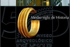 Cartel - Exposición 50 Aniversario - Museo Arqueológico de Villena- Ayuntamiento de Villena